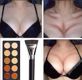 how to make boobs look bigger - use makeup